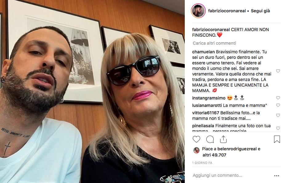 Fabrizio Corona con sua madre