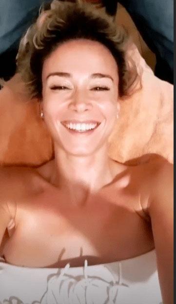 Diletta Leotta massaggio