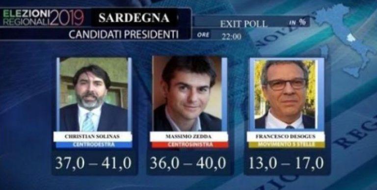 exit poll sardegna