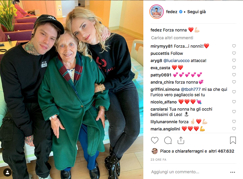 Fedez e Chiara in ospedale