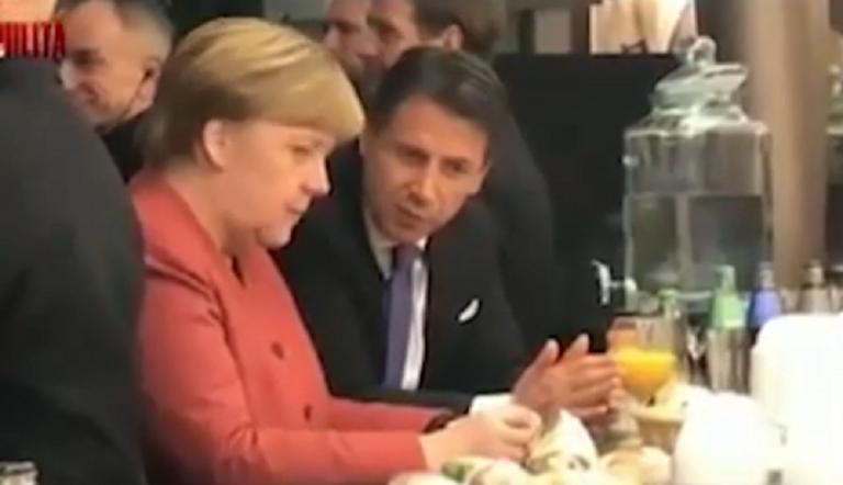 Merkel Conte Davos
