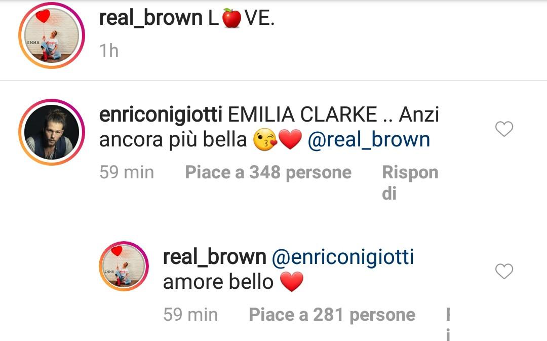 Enrico Nigiotti corteggia Emma Marrone