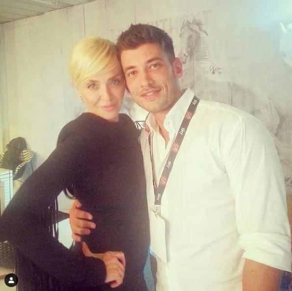 Paola Barale con Alessandro Carollo