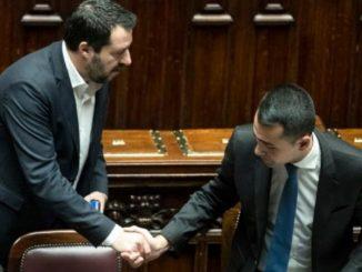 Salvini e Di Maio alla Camera
