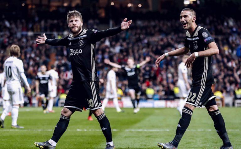 Champions, l'Ajax elimina il Real Madrid