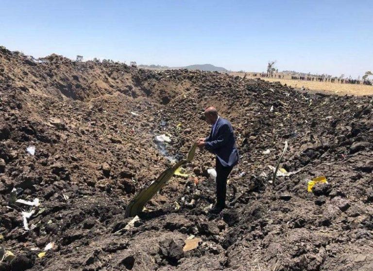ethiopian airlines aereo precipitato
