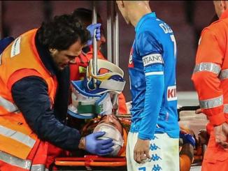 Napoli-Udinese, Ospina si accascia