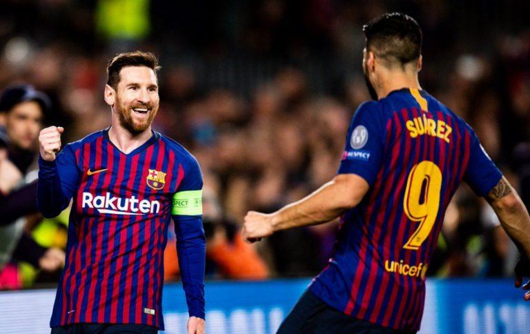 Barcellona, l'esultanza di Leo Messi