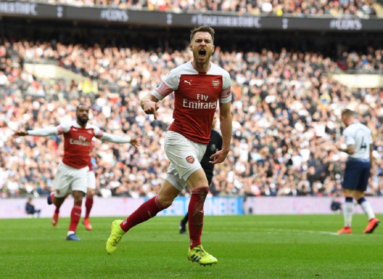 Arsenal, il gol di Ramsey contro il Tottenham