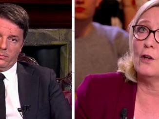 Scontro Renzi-Le Pen