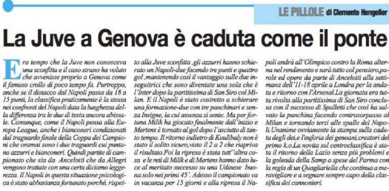 Il titolo de Il Roma sulla Juventus