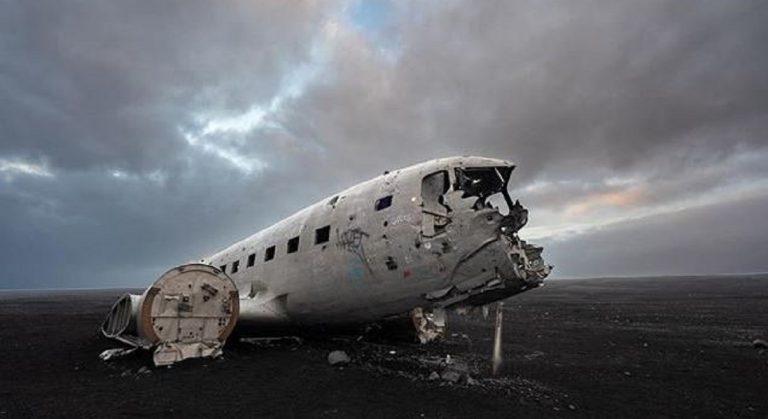 aereo abbandonato islanda