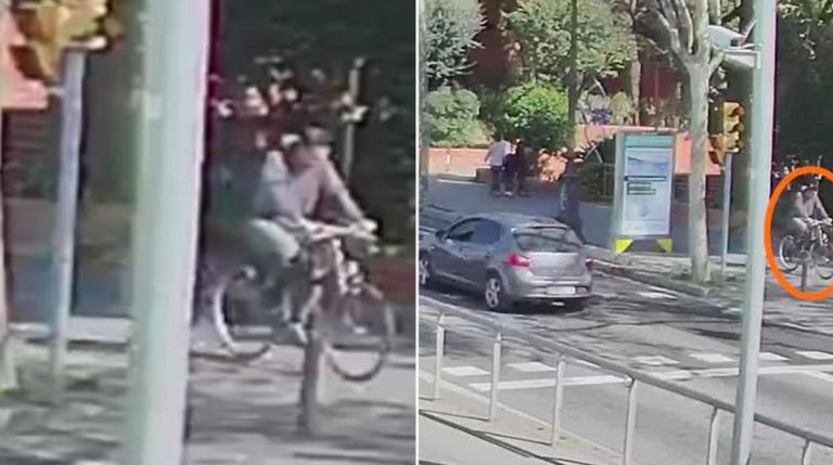 Barcellona, ciclista investe bimbo