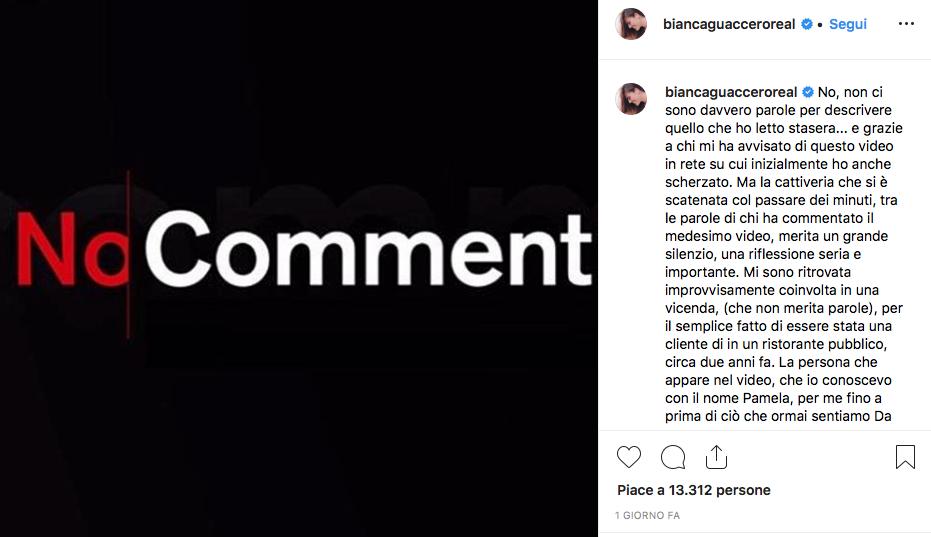 Il post di Bianca Guaccero sul caso Prati