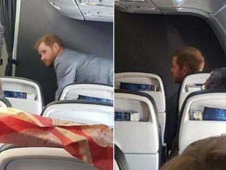 Principe Harry volo di linea