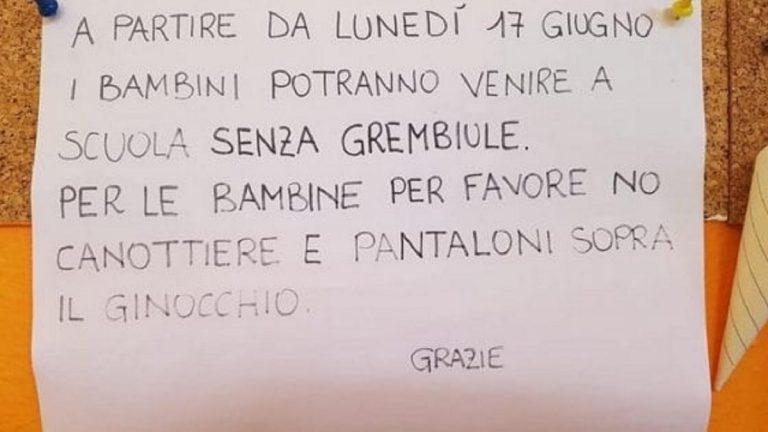 """""""Niente canotte e shorts"""" per le bambine dell'asilo: scoppia polemica"""