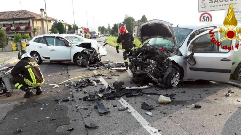Incidente frontale a Treviso