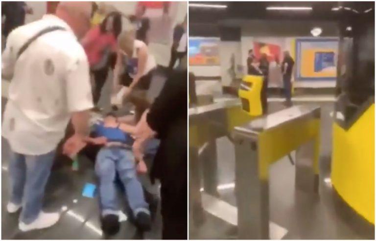 Napoli, aggressione in metro