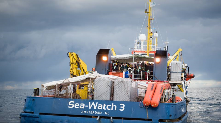Sea-Watch 3, Ong tedesca con nave battente bandiera olandese