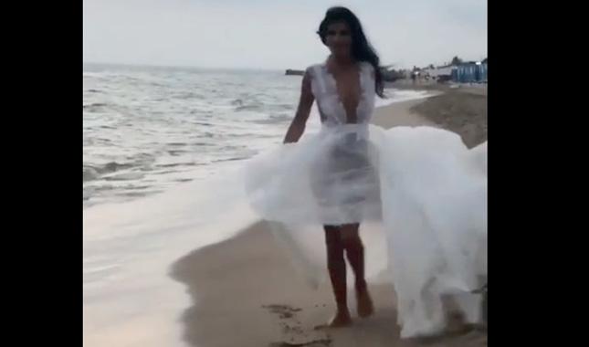 pamela prati abito sposa video