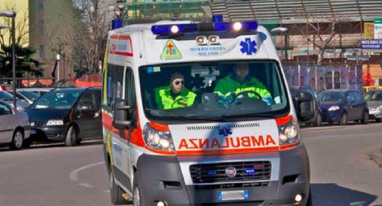 Pavia, incidente in moto