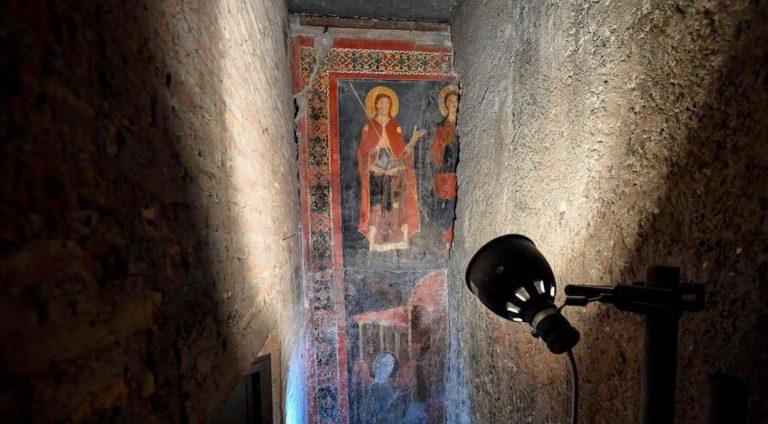 Scoperta eccezionale a Roma, affresco medievale intatto a Sant'Alessio