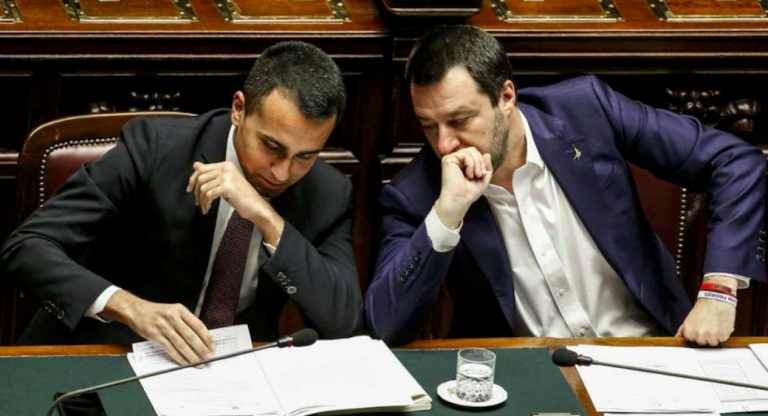 Salvini Di Maio a palazzo chigi