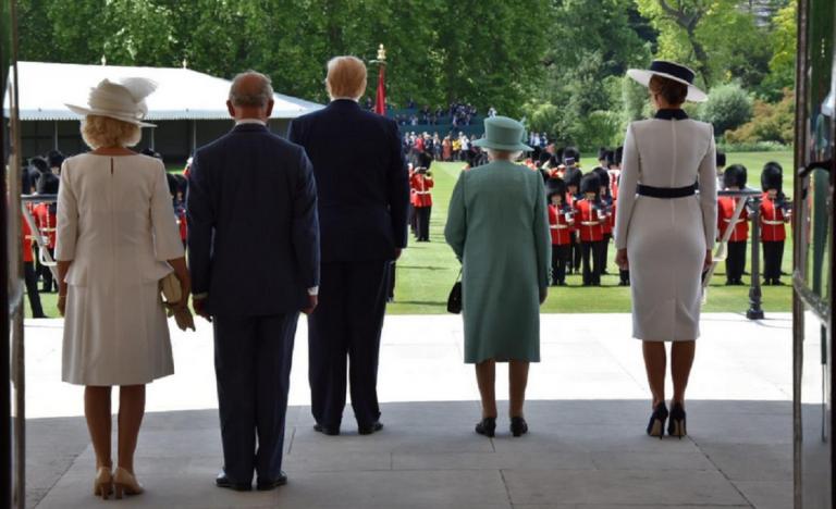 trump visita regina