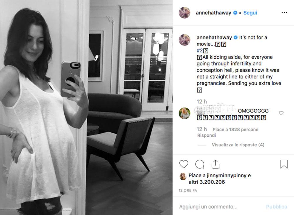 Anne Hathaway incinta