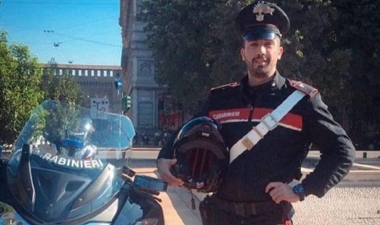 carabiniere morto incidente milano