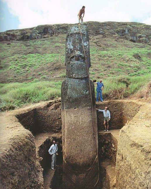 statue moai isola di pasqua