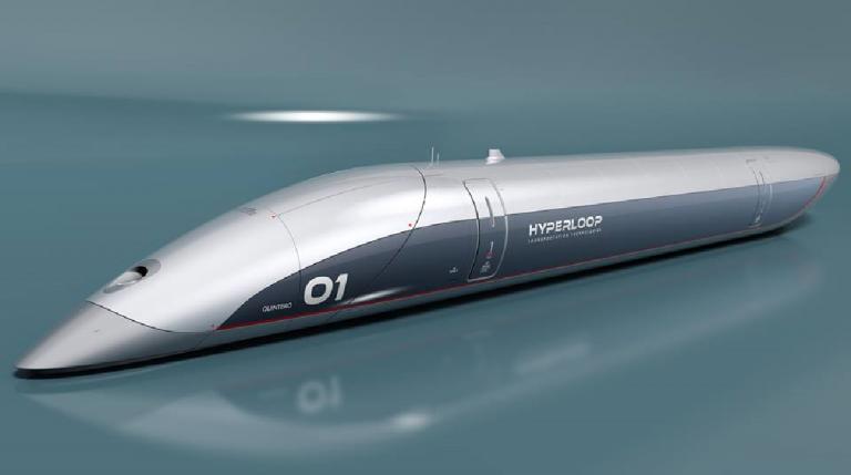 Treno ad altissima velocità realizzato da HyperloopTT