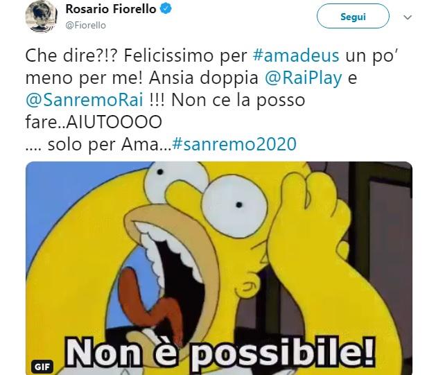 Amadeus a Sanremo 2020