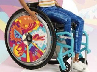 barbie sedia rotelle