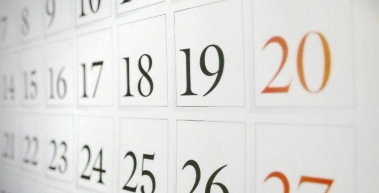 calendario scolastico 2019:2020