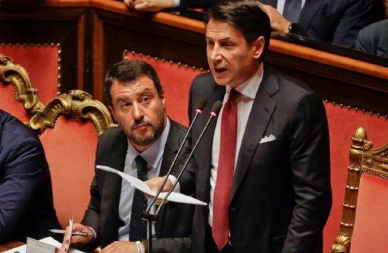 Crisi di governo sondaggio Conte Salvini