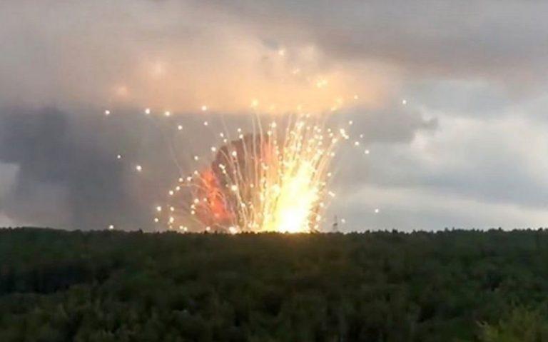 Esplosione in deposito armi in Russia