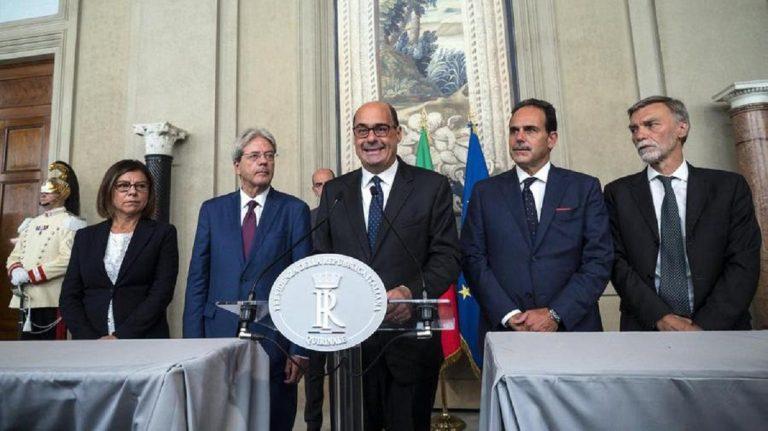 Governo M5s Pd Zingaretti tre condizioni