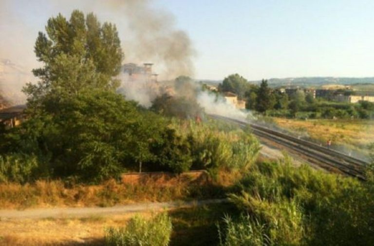 Incendio ferrovia Empoli