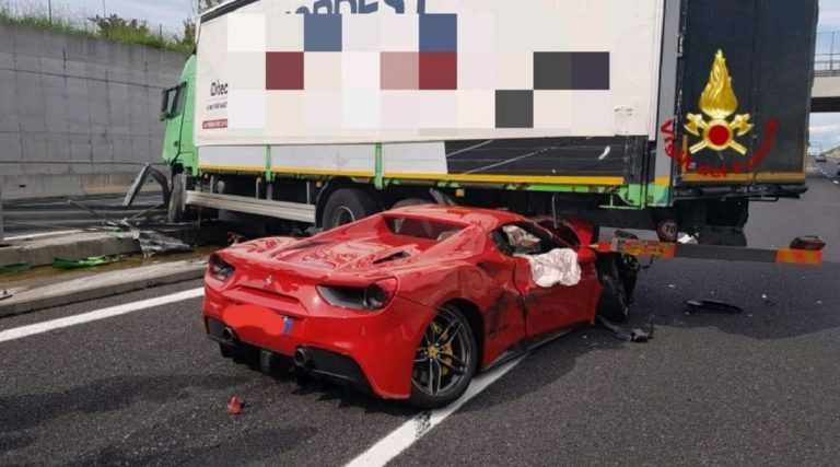 incidente ferrari 488
