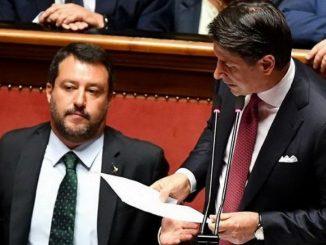 Matteo Salvini contro Conte