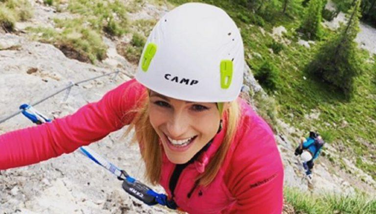 Michelle Hunziker in montagna