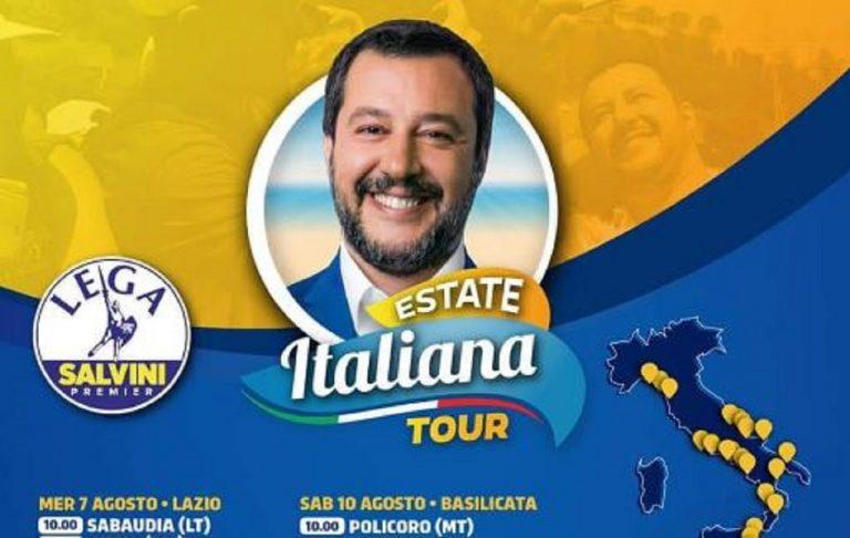 Salvini Estate Italiana Tour, annullata tappa Sabaudia
