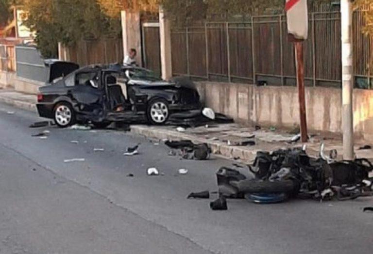 scontro auto moto sicilia