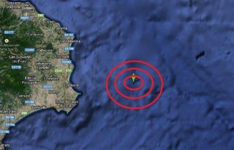 Terremoto Calabria oggi crotone