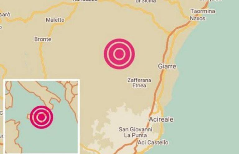 Terremoto sicilia oggi zafferana etnea