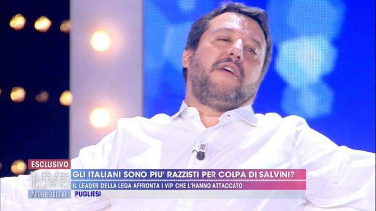 Matteo Salvini, Live Non è la D'Urso