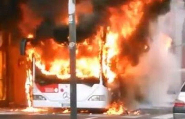 autobus fiamme potenza