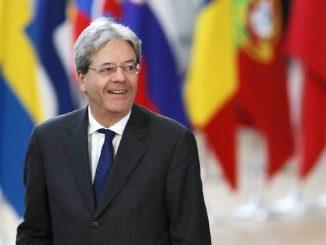 Commissario Ue Italia Gentiloni