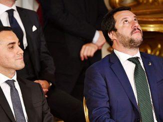 Di Maio e Salvini in compagnia